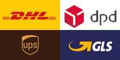 DHL,UPS,DPD,Hermes